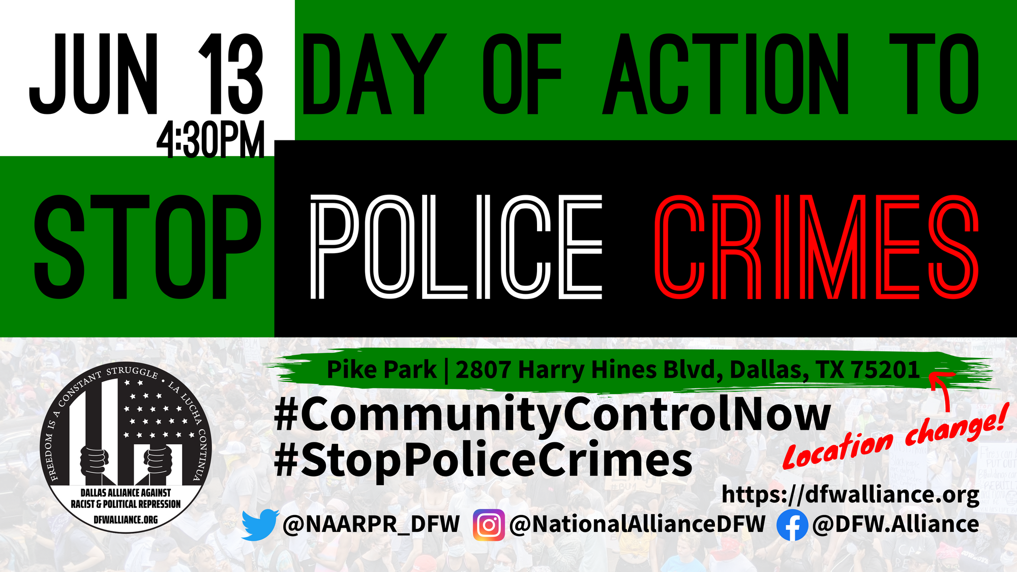 Dallas Day of Action to Stop Police Crimes