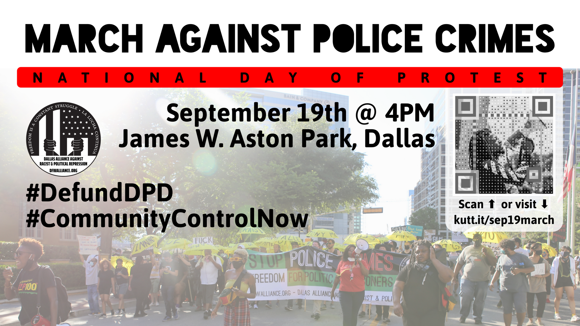 March Against Police Crimes! September 19th