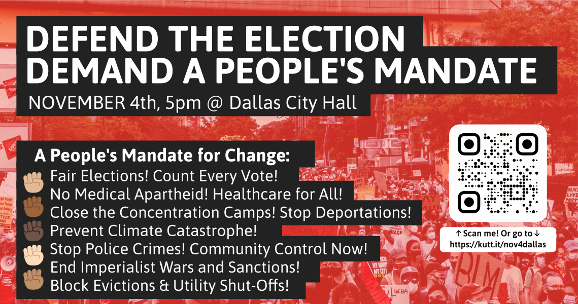 Defend the Election! Demand a People's Mandate